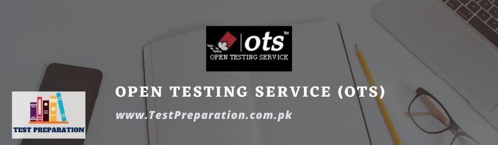Open Testing Service (OTS) - OTS Test Preparation Online