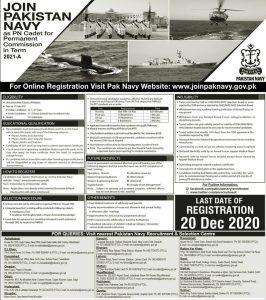 Pakistan Navy Latest Jobs 2021